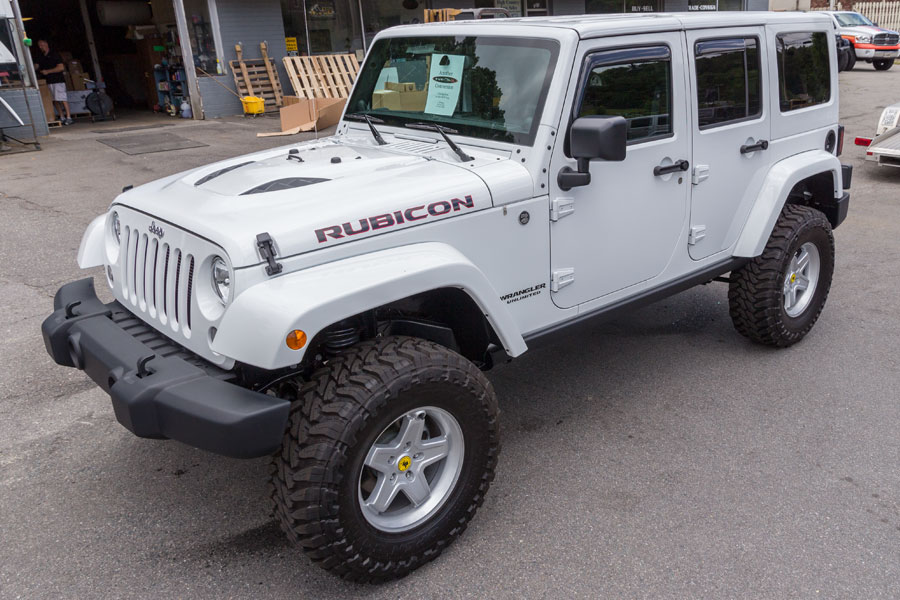 2014 White Jeep Rubicon Unlimited For Sale